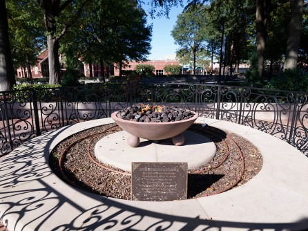 "The ""eternal flame"" at the gravesite of civil rights leader Martin Luther King Jr., at the King Center in Atlanta. (Photographs in Carol M. Highsmith's America Project in the Carol M. Highsmith Archive, Library of Congress, Prints and Photographs Division)"