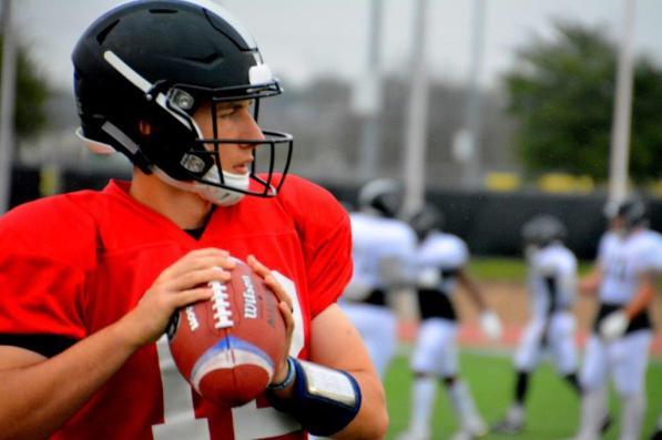 Birmingham Iron quarterback Luis Perez at training camp. (contributed)