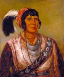 Seminole Chief Osceola, 1838. (George Catlin, Smithsonian American Art Museum, Wikipedia)