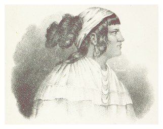 Portrait of Osceola, 1837. (British Library, Wikipedia)
