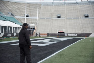 Tim Lewis has spent 30 years coaching as an assistant in professional and college football, and he's eager to field his first team as a head coach. (Brittany Faush/Alabama NewsCenter)
