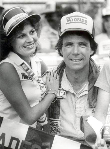 Darrell Waltrip celebrates a victory at the Talladega 500. (Racing Photo Archives/Getty Images)