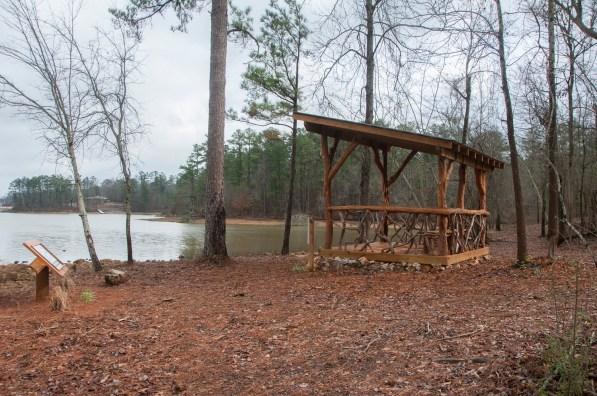 A relaxing perch beside Logan Martin Lake is part of a recent series of enhancements there. (Billy Brown/Shorelines)