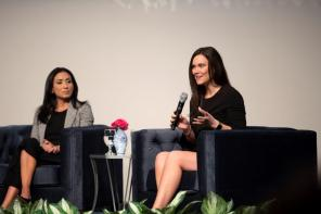 Britney Summerville, vice president of community engagement at Shipt, was part of the panel at the Women's History Month breakfast at Alabama Power. (Wynter Byrd / Alabama NewsCenter)