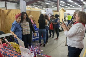 Women and daughters learn about career opportunities in the construction industry at the fourth annual Power UP: It's a Mother Daughter Thing! event on March 12, 2019. (Dennis Washington / Alabama NewsCenter)