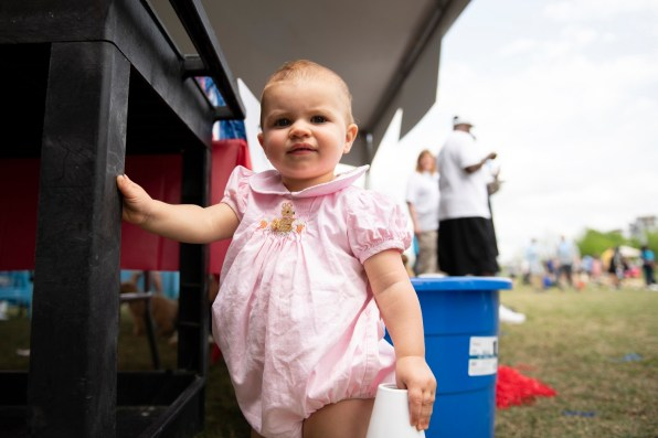 Too young to compete, but it's fun to watch, too. (Chris Jones/Alabama NewsCenter)