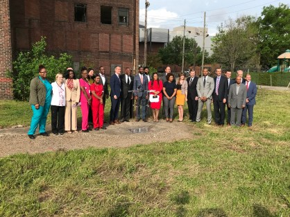 Officials announce the redevelopment of the Stonewall/American Life building and the launch of new opportunity zone initiatives for Birmingham. (Michael Tomberln / Alabama NewsCenter)