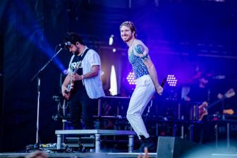 Walk the Moon performs at the 2019 Hangout Music Festival. (Nik Layman / Alabama NewsCenter)