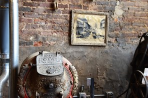 An antique roaster speaks to the history of the Morris Avenue space that is home to Alabama Peanut Company. (Brittany Faush / Alabama NewsCenter)
