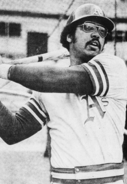 Photograph of baseball player Reggie Jackson taken before the third game of the 1973 World Series. (Desert Sun, United Press International, Wikipedia)