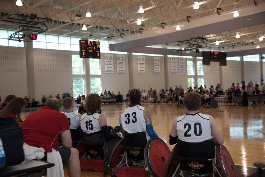 Just one year out from the Tokyo 2020 Paralympic Games, four of the top five wheelchair rugby teams in the world compete in the 2019 Four Nations Wheelchair Rugby Invitational at the Lakeshore Foundation in Birmingham. (Brittany Faush / Alabama NewsCenter)