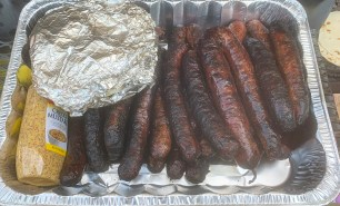 Dallas resident Jim McCarthy grilled up some meat and shared it with Alabama Power crews to show his appreciation. (Jim McCarthy)