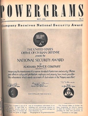 A wartime issue of Alabama Power's Powergrams. Issues were sent to employees serving in the military and sometimes took several weeks or months to reach them. (Powergrams Archives)