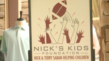 Nick Saban hosted the annual Nick's Kids Golf Tournament June 6 at Old Overton Club in Birmingham. (Dennis Washington / Alabama NewsCenter)