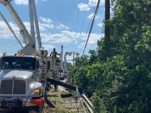 Alabama Power crews work in Texas to restore power after windstorms left thousands without electricity. (contributed)
