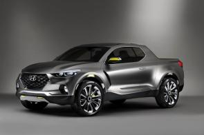 A new Hyundai pickup could share features and carry a design similar to the Santa Cruz concept the automaker unveiled in 2015. (Hyundai)