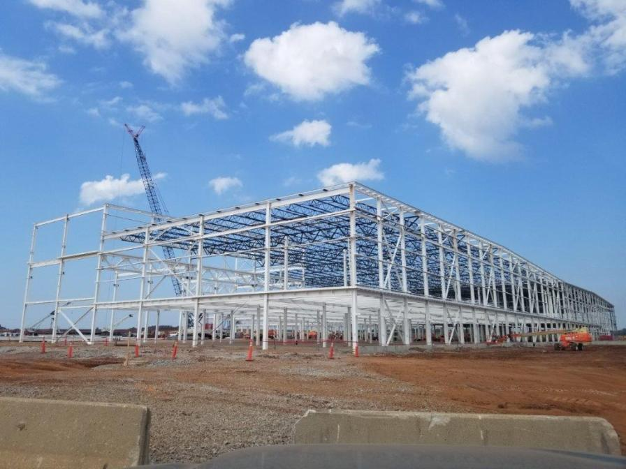 Construction of the $1.6 billion Mazda Toyota Manufacturing USA plant in Huntsville is on schedule for a 2021 opening. (MTMUS)