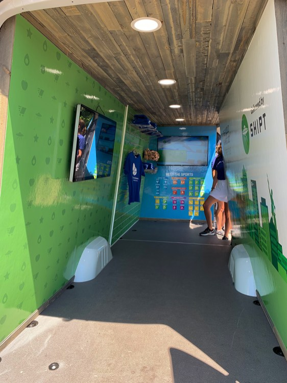 A new interactive exhibit promoting The World Games 2021. (Dennis Washington / Alabama NewsCenter)