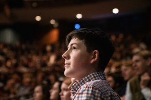 Students watch a performance at the Alabama Shakespeare Festival through ASF's SchoolFest program. (Alabama Power Foundation)