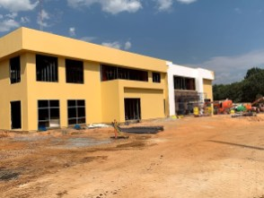 Construction continues on the A.G. Gaston Boys and Girls Club clubhouse next to Birmingham's CrossPlex. (contributed)