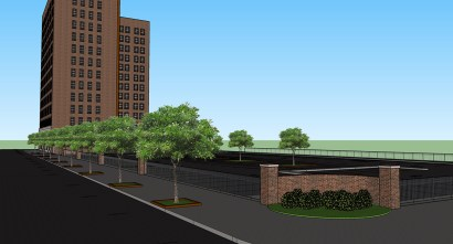 The $24 million redevelopment of the American Life/Stonewall building will add 140 apartments to downtown Birmingham. The project is one of the first major developments in an opportunity zone. (Hendon + Huckestein Architects PC)
