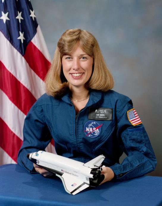 Portrait of astronaut Jan Davis, Oct. 9, 1987. (NASA)
