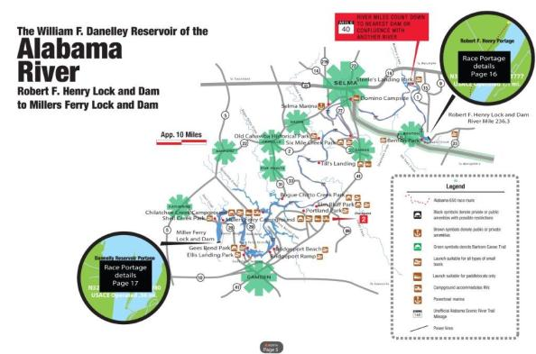 Competitors in the Great Alabama 650 will paddle down the Coosa River, the Alabama River, the Tombigbee River, the Mobile-Tensaw River Delta and conclude in Mobile Bay. (contributed)