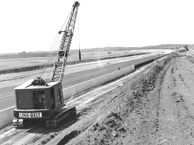Construction of the Alabama International Motor Speedway (now Talladega Superspeedway) began in Talladega County in May 1968. The track hosted its first race in September 1969. (From Encyclopedia of Alabama, courtesy of Talladega Superspeedway)