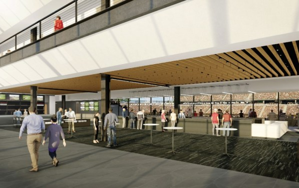 Final designs have been approved for Birmingham's Protective Life Stadium next to the BJCC. (Populous)