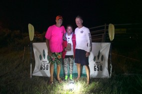 Salli O'Donnell celebrates her winning finish of the inaugural Great Alabama 650. (contributed)