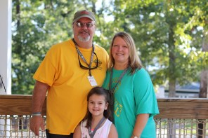 Clockwise, Brian, Alisha and Brianna Cordell have enjoyed Smile-A-Mile's on-therapy camp and, more recently, the off-therapy camp. Brianna is healthy and in kindergarten. (contributed)