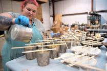 Crave Candles Co. is an Alabama Maker growing from Birmingham to more than 500 outlets nationally. (Brittany Faush / Alabama NewsCenter)