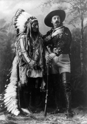 Portrait of Sitting Bull and Buffalo Bill, 1885. (William Notman Studios, Library of Congress, Prints and Photographs Division; Wikipedia)