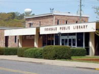 The Irondale Public Library, located next door to Irondale Municipal Court in downtown Irondale, Jefferson County, is part of the Jefferson County Library Cooperative. (From Encyclopedia of Alabama, photograph by David Martindale)