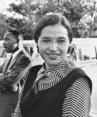 Rosa Parks with Dr. Martin Luther King Jr., c. 1955. (Ebony Magazine, Wikipedia)