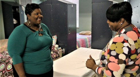 Sherry Webb, left, is the director of Social Services at First Light Women's Shelter. (Dury Shamsi-Basha / Alabama NewsCenter)