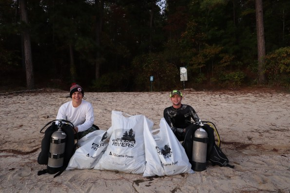 Divers from Found It Dive Services participated in the Renew Our Rivers cleanup of Lake Martin during the first weekend in November. (contributed)