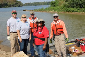 More than 100 volunteers worked to remove more than 23,000 pounds of debris from Lake Demopolis and surrounding areas during a Renew Our Rivers cleanup.. (contributed)