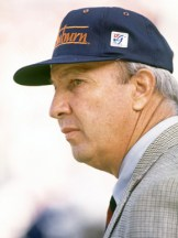 Pat Dye (1939- ) is a hall-of-fame college football coach who led Auburn University's program from 1981-92, amassing a record of 99 wins, 39 losses, and 4 ties with the Tigers. His legacy includes moving Auburn's home field during the Iron Bowl from Birmingham to Auburn in the early 1980s. Dye's Auburn teams won four Southeastern Conference championships. (From Encyclopedia of Alabama, courtesy of The Birmingham News)