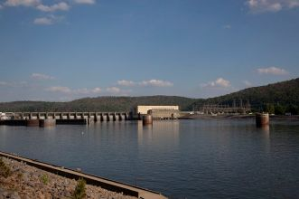 Guntersville Dam on the Tennessee River, Guntersville, 2010. (The George F. Landegger Collection of Alabama Photographs in Carol M. Highsmith's America, Library of Congress, Prints and Photographs Division)