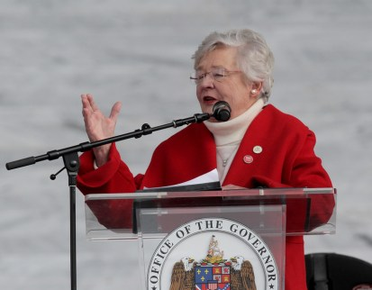 Governor Kay Ivey speaks during the Alabama 200th Year Celebration Saturday, December 14, 2019 in Montgomery. (Governor's Office/Hal Yeager)