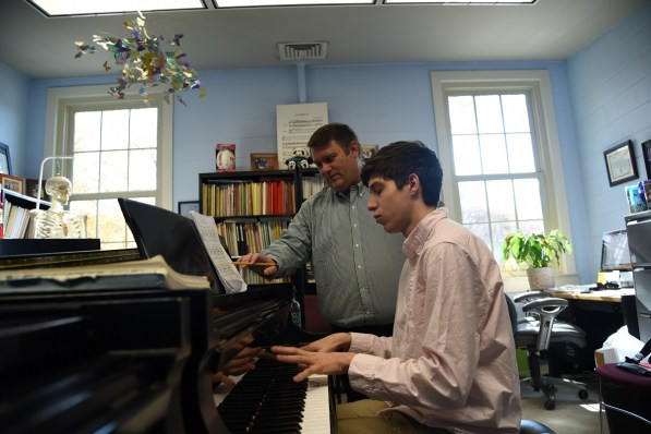 Dr. Kevin Chance says the students he teaches piano at the University of Alabama make him believe in the future of music. (Brittany Dunn/Alabama NewsCenter)