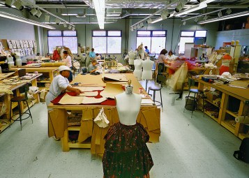 Staff of the costume department at the Alabama Shakespeare Festival, in Montgomery, work on creating costumes for the theater's performances. (From Encyclopedia of Alabama, courtesy of Southern Living, Inc., photograph by John O'Hagan)