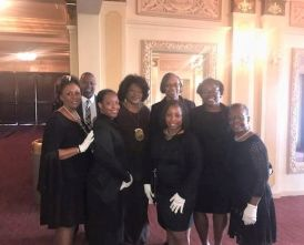 Southern APSO members helped seat guests during a program to honor Martin Luther King Jr. at the Davis Theatre for the Performing Arts at Troy University. (Southern APSO)