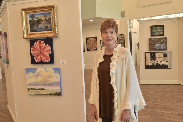 Desiree Blackwell is executive director of the Coastal Arts Center in Orange Beach and a board member for the nonprofit Friends of the Arts, which supplies volunteers for many programs at the center. (Karim Shamsi-Basha/Alabama NewsCenter)