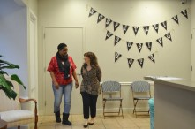 Pathways' philosophy hangs on the wall -- hospitality, housing and hope. (KarimShamsi-Basha/Alabama NewsCenter)