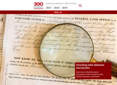 The Alabama Bicentennial Commission is among those participating in the Alabama History@Home project. (AL200, Alabama History@Home)
