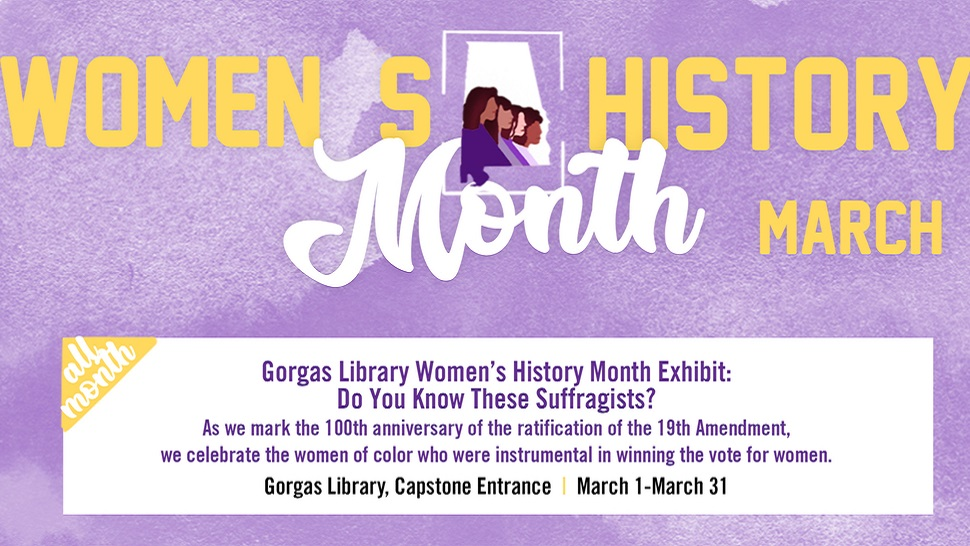 University of Alabama Women's History Month spotlights 100 years of women's suffrage
