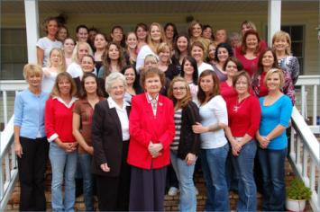 Doris Littleton, center front, has been helping women improve their lives for the past half-century. (contributed)