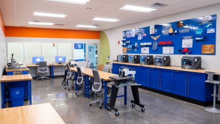 Students can fabricate items in the 3D printers. (contributed)